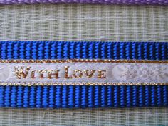 Large Dog Designer Collars WITH LOVE Trimming on by LuciesLuvlies