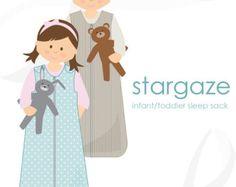Sleep sack pattern: Stargaze baby / toddler sleep sack PDF pattern