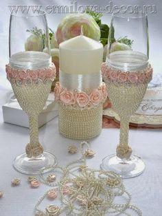 Eu Amo Artesanato: Taça lembrança de casamento e aniversário de 15 anos Step by step Photo tutorial - Bildanleitung