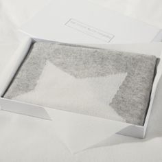 Cashmere Star Baby Blanket - Pale Grey Marl from The White Company