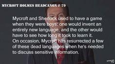 Mycroft and Sherlock as kids... Headcannon Accepted.