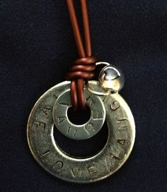 Personalized Metal Washer Necklaces by Stampped on Etsy, $10.00