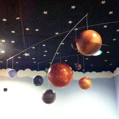 Cute Mars Stars Space Nursery Ceramic Knobs Pull Closet Dresser Drawer 2014
