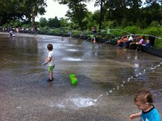 The open air ice skating rink turned into water park for the summer. Prospect Park, Skating Rink, Peaceful Places, Summer Fun, Brooklyn, York, Water, Gripe Water, Summer Fun List
