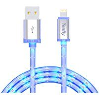 Tenfly Premium Aluminum Head 3ft 8 Pin LED Glow in Dark Lightning to USB Charging Cord Sync USB Data Cable for Apple iPhone / iPad (iOS1 pack) Iphone 11, Apple Iphone, Blue Night Lights, Awesome Stuff, Lightning, Cord, Goodies, Cable, Glow