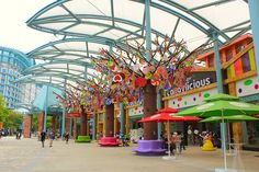 Sentosa Island is a theme park for young and old in Singapore.  www.traveladept.com