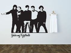 One Direction Wall Decal Style 2 Large Band Harry Niall Zayn Liam Louis |  EBay