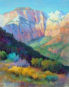 Zion Overlook by Colleen Howe Bleinberger Pastel ~ 30 x 24