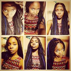 Jumbo box braids w headband Colored Braids, Jumbo Box Braids, Natural Beauty, Create, Hair Styles, Hair Plait Styles, Hair Makeup, Hairdos, Haircut Styles