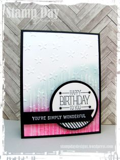Stamp Day Designs, HB - You're Simply Wonderful (1)