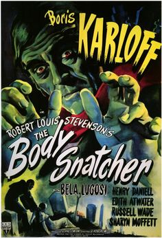 1945 movie poster | The Body Snatcher
