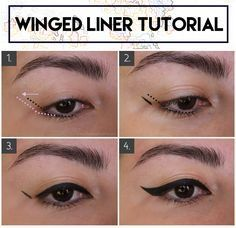 Winged Eyeliner for Hooded & Small Eyes: Techniques and Products tutorial winged eyeliner for small hooded eyes how to techniques and products recommendation best brush liner Eyeliner For Small Eyes, Eyeliner For Hooded Eyes, Eyeshadow For Green Eyes, Winged Eyeliner Tutorial, Simple Eyeliner, Hooded Eye Makeup, How To Apply Eyeliner, Winged Liner, Eye Makeup Tips