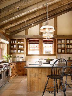 Rustic barn-inspired ski cabin in Sugar Bowl