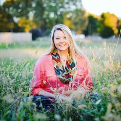 Portraits Portraits Senior Pictures Photo Photos Picture Ideas Blonde Beautiful Pink Shirt Multi Colored Scarf GloryRoze Photography Field