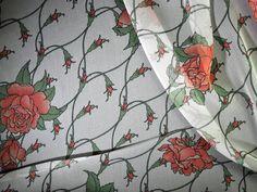 Trellis Rose Silk Chiffon
