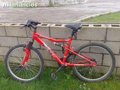 . Bicicleta roja de monta�a. Tiene peque�os ara�azos en el cuadro y un pedal mal todo lo dem�s est� en perfecto estado. Las ruedas son 24x1.95.