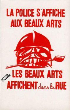 La Police s'affiche au Beaux Arts - Les Beaux Arts affichent dans la rue - cartoliste