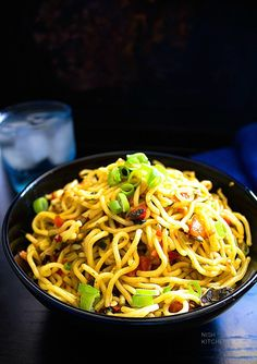 Chilli Garlic Noodles - Video - Spice up your weeknights with this chilli garlic noodles recipe. You will love it!