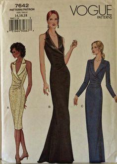 Evening Dress Tuxedo Look  2000's  Vogue by patterntreasury