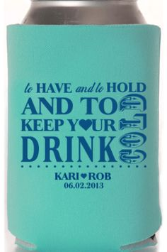 Custom Koozies - Custom koozies for your business, party, event or wedding.  What A fantastic party or wedding favor or use these as a great way to promote y