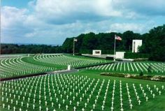 The American Military Cemetery in Luxembourg.  General George Patton's burial site.