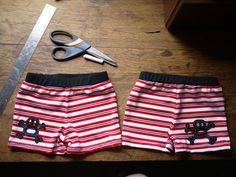 Boys swimshort tutorial.  Like the MiniBoden trunks
