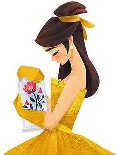 A Bela e a Fera (Artes) Beauty and the Beast (Art) Princesa Disney Bella, Disney Belle, Disney Princess Art, Old Disney, Disney Fan Art, Cute Disney, Disney Magic, Disney And Dreamworks, Disney Pixar