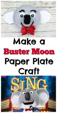 Make a Buster Moon Paper Plate Craft