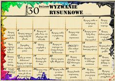 30 Days Drawing Challenge pl polish 30 Dniowe Wyzwanie Rysunkowe Soon in English - Site 30 Day Drawing Challenge, 30 Day Challenge, 30 Tag, Book Of Life, Project Life, France, English, Back To School, Diy And Crafts