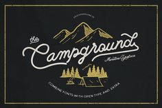 Campground Font Combinations-30%off by celcius design on @creativemarket