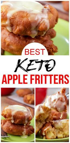 Check out these keto apple fritters. Tasty low carb fried not baked apple fritters simple & quick. Great for keto breakfast, keto snacks or keto desserts.Stock f Ketogenic Diet Meal Plan, Keto Meal Plan, Ketogenic Recipes, Low Carb Recipes, Good Recipes, Ketogenic Breakfast, Jam Recipes, Shrimp Recipes, Recipes Dinner