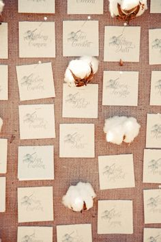 cotton escort card display  //  gideon photography
