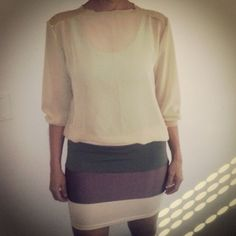 blusa gasa / falda recortes