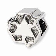 Reflections Sterling Silver Celtic Weave Cross Dangle Bead 4mm Diameter Hole