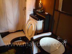 Sanitation facilities inside the mahoora tents - Fully functional bathroom