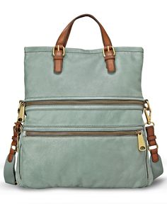 Fossil Handbag, Explorer Leather Tote - Tote Bags - Handbags & Accessories - Macy's