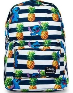 Loungefly Disney Lilo Stitch Pineapple Stripes All-Over Print Backpack