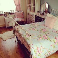 I love the romantic look floral bedspreads give