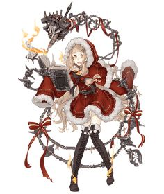 View an image titled 'Red Riding Hood, X-mas Job Art' in our SINoALICE art gallery featuring official character designs, concept art, and promo pictures. Game Character Design, Character Concept, Character Art, Concept Art, Anime Manga, Anime Art, Tekken Cosplay, Cute Anime Character, Anime Weapons