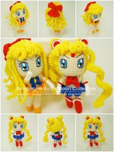 Amigurumi Sailor Venus & Sailor Moon by http://www.facebook.com/RabbizAmigurumi
