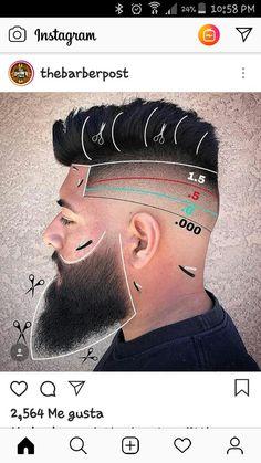 Barber Cortes Mens Haircuts Quiff, Barber Haircuts, Boy Hairstyles, Haircuts For Men, Haircut Tip, Beard Haircut, Fade Haircut, Cool Hair Designs, Gents Hair Style
