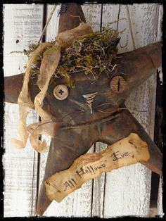 Primitive Folk Art Black Cat Witch Halloween Door Greeter, Autumn Fall Decor, Shelf Tuck, Cupboard Sitter, OFG FAAP
