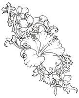 hibiscus coloring pages | Hibiscus Flower Tattoo 1 year ago in Tattoos