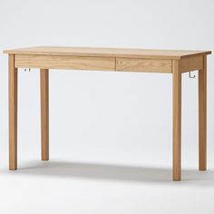 Solid wood desk (with pull-out), oak width 110 × depth 55 × height 70cm | Muji net store