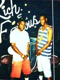 "Jay-Z with Calvin ""Klein"" Bacote, a famous Brooklyn drug dealer Hov ran with in the 1980s. Klein was a don of the streets, and rumors on the ground were that he owned multiple brownstones with millions of dollars stashed in each. According to Klein, him and Jay were pulled over and caught a case together back in '89; where the kingpin took the brunt of the charges so Hov could continue to pursue a rap career."