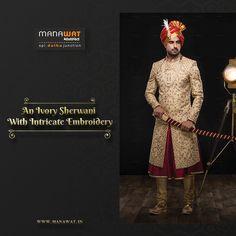 Wedding Sherwani, Churidar, Stylish Men, Mens Suits, Embroidery, Fashion, Mens Suits Style, Needlework, Needlepoint