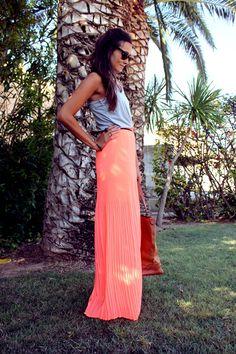 coohuco: LONG NEON DRESS