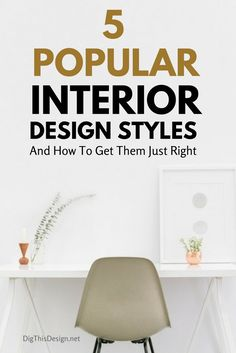 5 Popular Interior Design Styles And How To Get Them Just Right - Dig This Design Decorating Blogs, Decorating Your Home, Diy Home Decor, Room Decor, Office Interior Design, Best Interior, Luxury Interior, Interior Blogs, Interior Modern