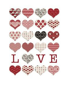 "this would make a cute valentine quilt - Free printable I made using ""Delovely"" from Polka Dot Pixels at Two Peas in a Bucket. Love Valentines, Valentine Crafts, Valentine Pillow, Printable Stickers, Planner Stickers, Free Printable, Printable Hearts, Diy And Crafts, Paper Crafts"