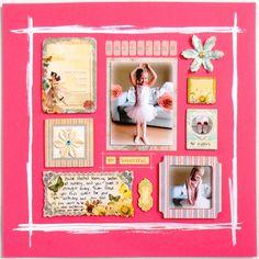 'Ballerina so beautiful' layout using Prima Fairy Belle